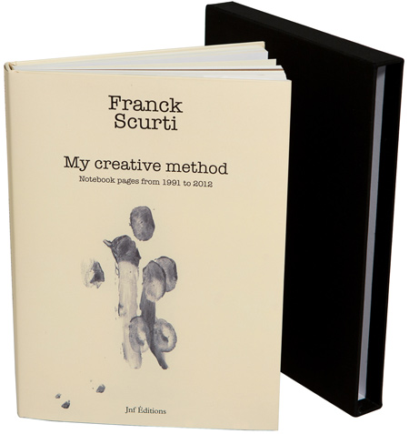 "Vue de la couverture du livre de FranckScurti ""My creatvie method"""